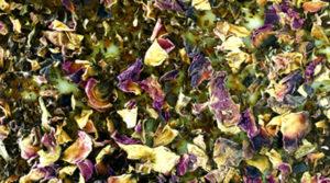 Savon artisanal fleur d'hibiscus et rose, texture du savon